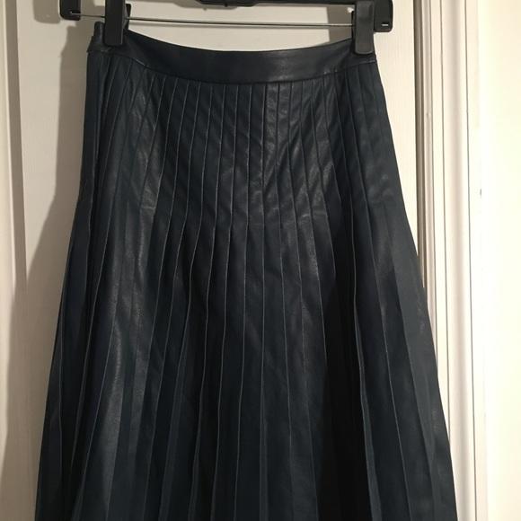 c7bebe7831 Rebecca Taylor Skirts | Vegan Leather Pleated Skirt | Poshmark
